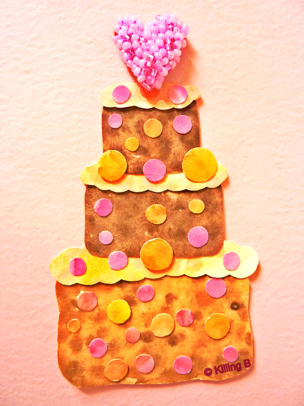 Three-Tiered Cake with Curly Icing