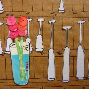 Pristine Glasses Lined Up on the Restaurant Dresser