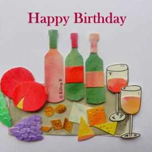 Cheese and Wine - Happy Birthday