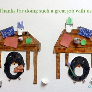 Penguin Students 'Great Job With Us'