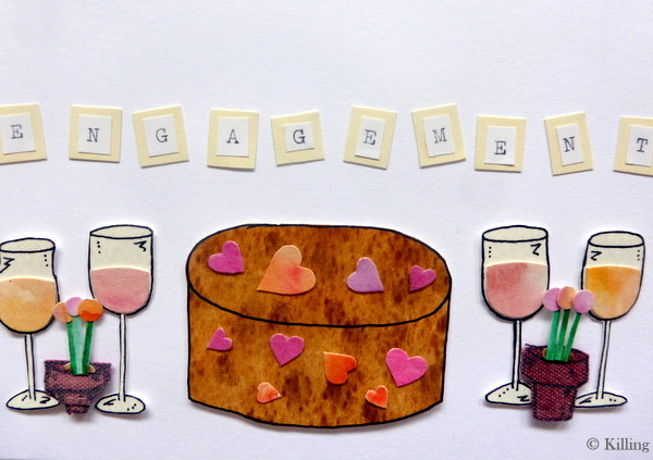 Rose Wines and Heart Cake