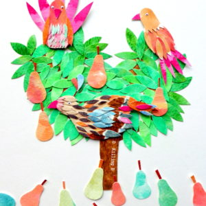 A Partridge and Two Turtle Doves in a Pear Tree