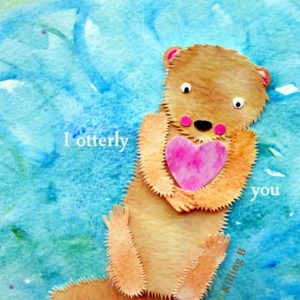 Otter with Heart
