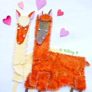 Pair of Llamas