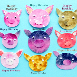 Pigs - Happy Birthday