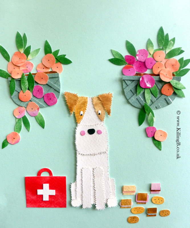 Little Wire Fox Terrier with Medicine Bag and Biscuits