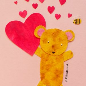 Bear and Bee and Hearts