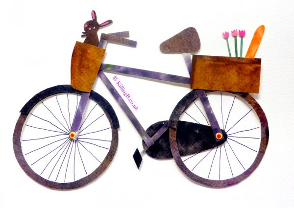 Bicycle, Baguette and Bunny in Basket