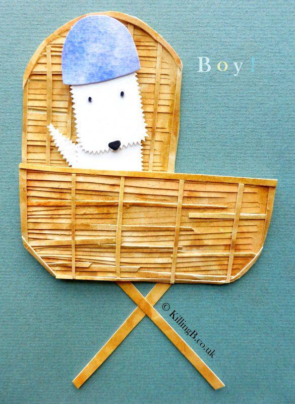 Boy in Crib - White Dog