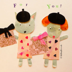 Dog and Cat in Berets