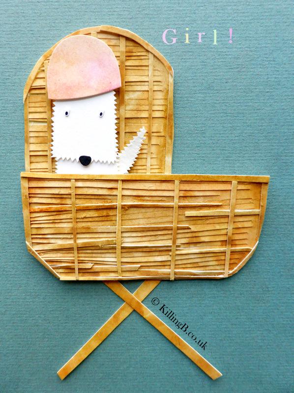 Girl in Crib - White Dog