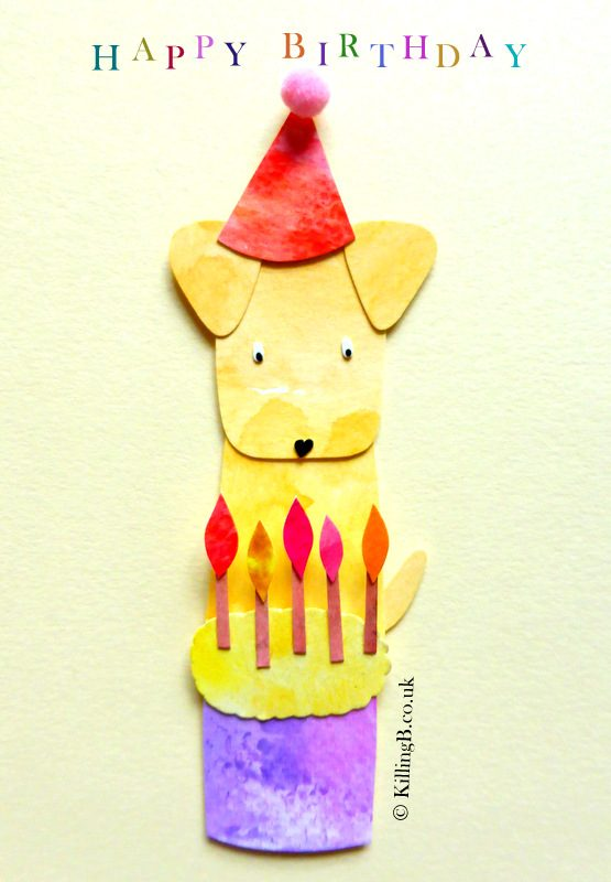Yellow Birthday Dog