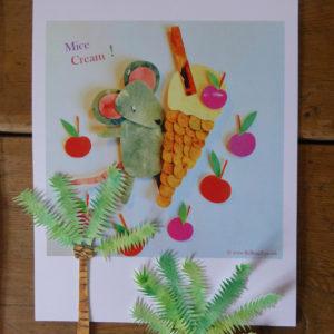 Mice Cream A4 Print