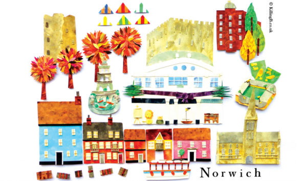 Norwich Tea Towel