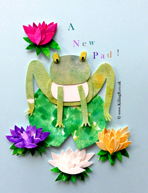 Frog and Waterlilies
