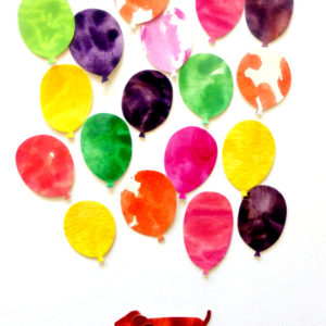 Dachshund and Balloons