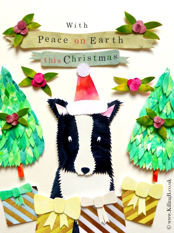 'Peace on Earth' Winter Collie