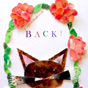 Whiskery Cat in Floral Arch