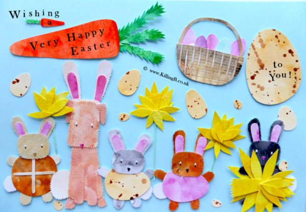 Rabbits & Little Dog - Easter Time