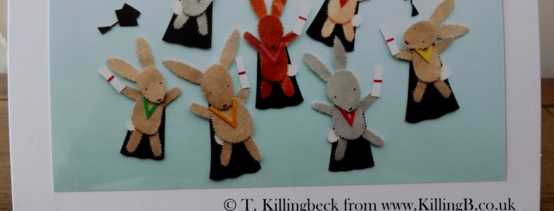 Leaping Bunnies Tossing Mortar Boards