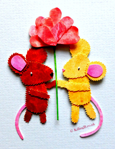 Two Mice and Flower