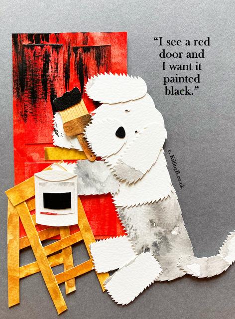 Dulux Dog 'Paint it Black'