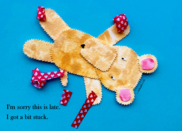 Teddy Stuck Down