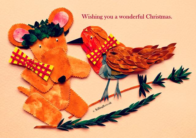 Teddy and Robin 'Christmas Peck'