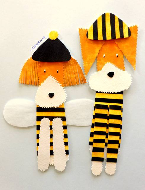 Dogs in Bee Outfits