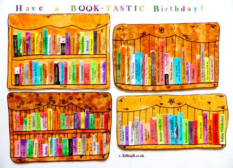 Birthday Bookshelves